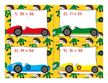 2 Digit Addition Task Cards 2nd Grade Double Digit Addition Activity 2.NBT.5