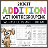 2 Digit Addition Without Regrouping Worksheets Google Slides | Distance Learning