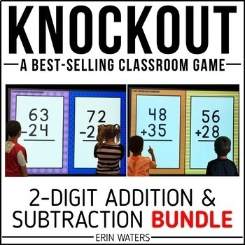 2-Digit Addition & 2-Digit Subtraction Game | KNOCKOUT | Distance Learning