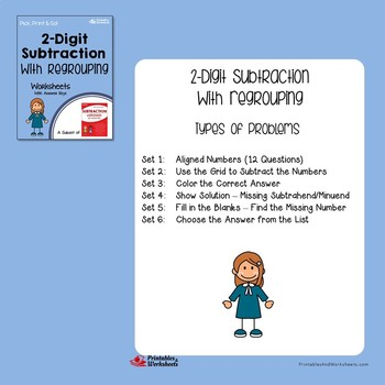 Adding and Subtracting 2 Digit Numbers With Regrouping Worksheets