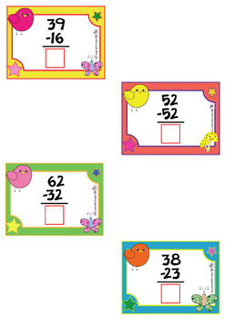 2 Digit Addition And Subtraction (Without Regrouping) - 24 Flash Cards