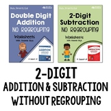 Addition and Subtraction of 2 Digit Worksheets No Regrouping