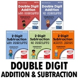 Double Digit Addition and Subtraction Printables With Regrouping, No Regrouping