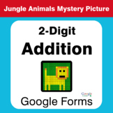 2-Digit Addition - Animals Mystery Picture - Google Forms