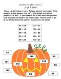 2 Digit Addition Bust the Pumpkin Partner Game