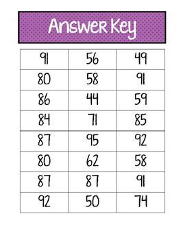 2-Digit Addition Center Cards (2.NBT.5)