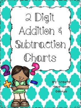 2 Digit Addition Chart for Regrouping- Includes Subtraction as well