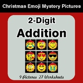2-Digit Addition - Christmas EMOJI Color-By-Number Mystery
