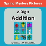 Spring Math: 2-Digit Addition - Math Mystery Pictures