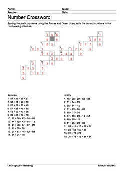 2-Digit Addition Crossword