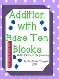 2 Digit Addition--Drawing Base Ten Blocks Worksheets