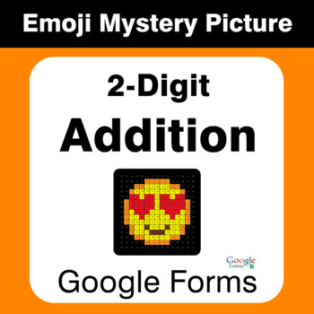 2-Digit Addition - EMOJI Mystery Picture - Google Forms