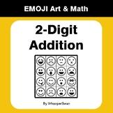 2-Digit Addition - Emoji Math & Art - Draw by Number Color