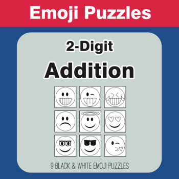 2-Digit Addition - Emoji Picture Puzzles