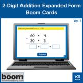 2-Digit Addition Expanded Form v.1: Boom Cards