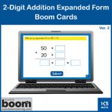 2-Digit Addition Expanded Form v.2: Boom Cards
