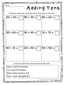 2 Digit Addition Fun {For Beginners}