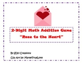 2-Digit Addition Game: Heart Themed (Valentine's Day)