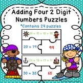 2 Digits Addition Game Puzzles Adding Four Two Digit Numbers 2nd Grade 2.NBT.6