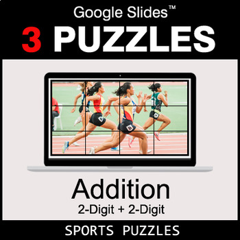 2-Digit Addition - Google Slides - Sports Puzzles