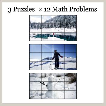 2-Digit Addition - Google Slides - Winter Puzzles