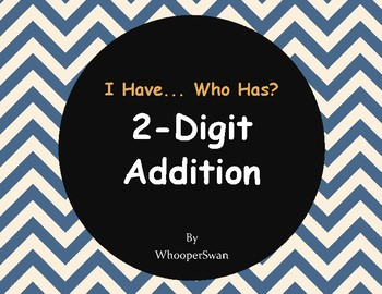 2-Digit Addition - I Have, Who Has