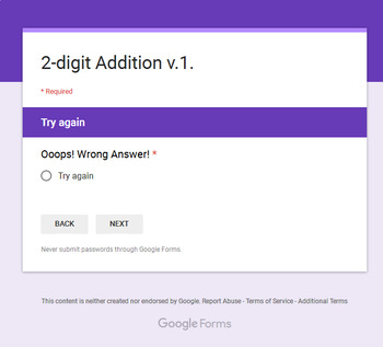 2-Digit Addition - Interactive Digital Task Cards - Google Forms