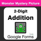 2-Digit Addition - Monster Mystery Picture - Google Forms