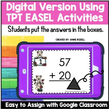 2-Digit Addition NO Regrouping Task Cards (Llama theme)