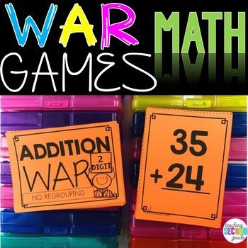 2 Digit Addition No Regrouping War Game