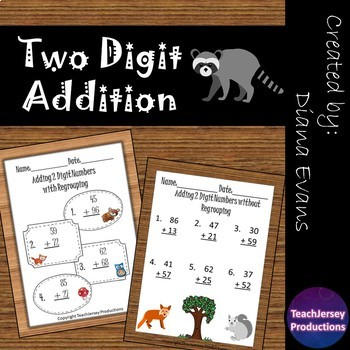 2 Digit Addition Practice
