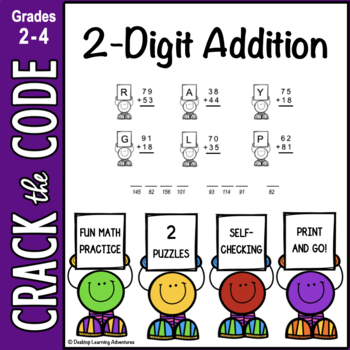 2-Digit Addition Practice- Crack the Code!