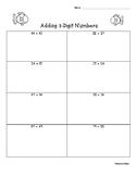 2-Digit Addition Practice Worksheet