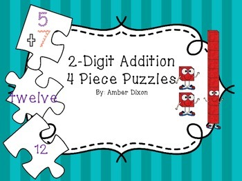 2 Digit Addition Puzzles