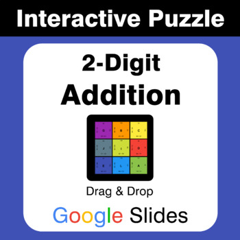 2-Digit Addition - Puzzles with GOOGLE Slides