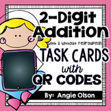 2-Digit Addition QR Code Task Cards (with & without regrouping)