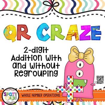 2 Digit Addition QR Craze {Math Workstation}