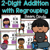 2-Digit Addition Regrouping Boom Cards