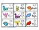 2 Digit Addition Regrouping Dinosaurs Task Cards