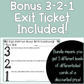 2 Digit Addition SCOOT Task Cards Bundle (3 sets)