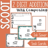 SCOOT Task Cards ~ 2 Digit Addition w/ Composing (AKA Regrouping)