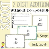 2 Digit Addition SCOOT Task Cards Without Composing (aka r
