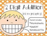 2 Digit Addition SMART Notebook File and Worksheets