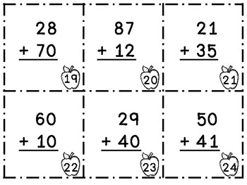 2-Digit Addition Scoot No Regrouping