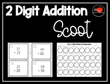 2 Digit Addition Scoot: WITH Regrouping
