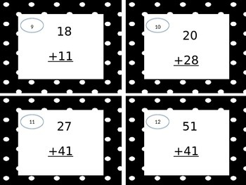 2 Digit Addition Scoot Without Regrouping