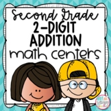 2-Digit Addition Second Grade Math Centers