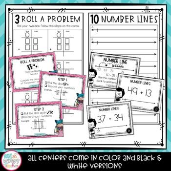 2-Digit Addition Second Grade Math Centers