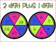 2 Digit Addition Spinners FREEBIE