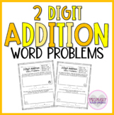 2 Digit Addition Word Problems With Regrouping   1st Grade